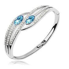 Caratcube Ocean Blue Austrian Crystal Elegant Bracelet For Women (CTC - 7)