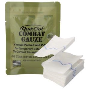 Quick Clotting Hemostatic Combat Gauze, Z-Medica, IFAK USGI Prepper EMS ALS TCCC