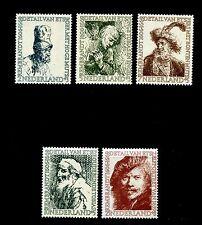 Netherlands #B291-B295 (Ne216) Complete 1956 Rembrandt Etchings, Mnh,Cv$41.50
