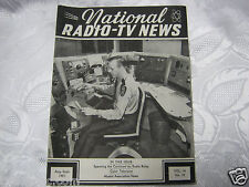 National Radio News 1946 tube vintage electronics magazine radio relay color Tv