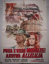 Manifesto POSA L'OSSO MORALES ARRIVA ALLELUJA 1978 TAYLOR PALUZZI COLF LAMA 2F