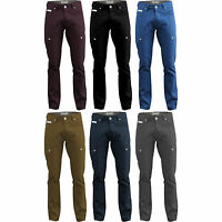 New Mens Chinos Waist 28 30 32 34 36 38 40 Trousers Navy Blue Plum Jeans TF13