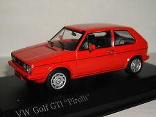 MINICHAMPS VW GOLF GTI 1977 RED 'PIRELLI' 1/43