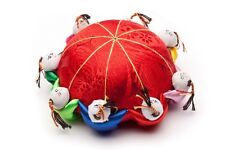 pin cushion ,silk material, new style, with ten head(old-fashioned oriental pin)