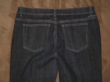 DKNY Size 10P SOHO Boot Cut Dark Blue Stretch Denim Womens Jeans