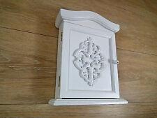 Schlüsselkasten Schlüsselschrank Schlüsselkästchen  5 Haken  Holz weiß  Shabby