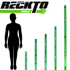 RECKTO Spirit Levels 3 Vial Magnetic BOX BEAMS Small/Large PROFESSIONAL Measure