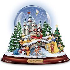 Walt Disney Christmas Snow Globe Musical Lighted Holiday Sculpture NEW