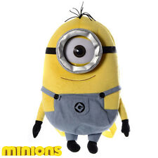 MINIONS MOVIE BACKPACK SOFT PLUSH SCHOOL LUNCH BAG TOY RUCKSACK - BRAND NEW!