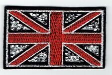 Iron On Embroidered Applique Patch - Crushed Crystals - Union Jack Flag