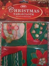 Christmas Party Plastic Table Cloth Santa ELF Party Easy Wipe Table Cover