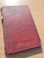 VINTAGE Reference BOOK - MECHANICAL TABLES