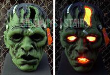 "rare 13.5"" LIGHT-UP FRANKENSTEIN MONSTER HEAD HALLOWEEN PROP decoration horror"