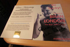 Boxing Signed Cards Certified Original Autographs