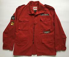 Xcel xtreme giacca rossa jeans jacket uomo usata tg 50 52 vintage lunga T561