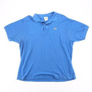 LACOSTE  Blue Classic Short Sleeve Polo Shirt Mens L
