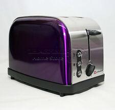 Púrpura 900W 2 Rebanada Tostadora De Ranura ancha de dos tostadas descongelación rápida función de recalentamiento