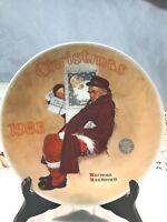 Vintage Norman Rockwell Edwin M Knowles Collector's Plate Santa in the Subway