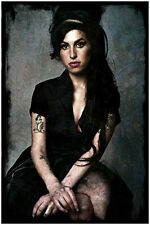 "Amy Winehouse Poster Abstract Grunge Art Print Poster 24"" x 36"""