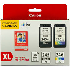 "Canon PG-245XL / CL-246XL Ink Cartridge with GP-502 4""x6"" Photo Paper Combo Pack"
