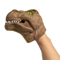 Dinosaur Hand Puppet Toy Flexible Rubber Fun Party Favor Gift Kids Adults