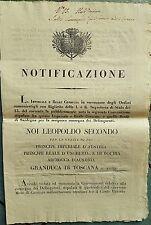 Z17363-TOSCANA, ACCORDO CON IL REGNO DI SARDEGNA, CONSEGNA DELINQUENTI, 1836