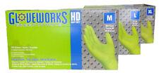 Ammex Gloveworks Green Nitrile Gloves Medium 100 gloves per box