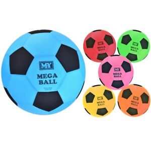 "45cm 18"" MEGA BALL GIANT FOOTBALL KIDS GAME 6 COLOURS Fun Outdoors Beach Pool"