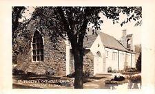 Mobridge South Dakota~St Josephs Catholic Church~1950s Postcard RPPC