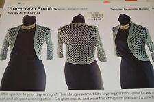 "Slinky Fitted Shrug Stitch Diva Crochet Pattern 30-54"""
