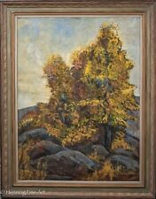 Beautiful Mid Century Landscape Impressionist Oil Painting Signed M.F. Anderson
