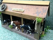 BESPOKE! 'CATTLE SHED' WOODEN,SCALE FARM BUILDING FOR 'SCHLEICH' FARM ANIMALS