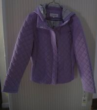 NWT CALVIN KLEIN Ladies Lilac Purple Jacket Coat Quilted Water Repellent RN54163