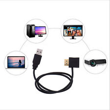 HDMI Male To Female Convertor + 50cm USB 2.0 Male Charger Cable Splitter Adapter