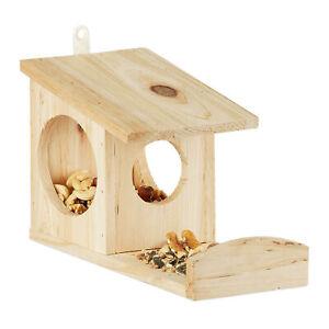 Eichhörnchen Futterhaus zum Hängen Eichhörnchenhaus Futter Holz Futterspender