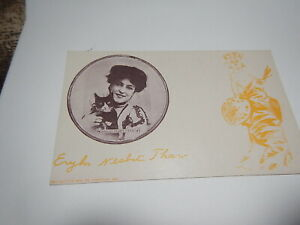 "RARE ""EVELYN NESBIT THAW 'THE ARTISTS' MODEL'"" PHOTO POSTCARD with cat"