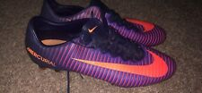 Purple and Orange Soccer Cleats