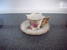 Small Enesco Japan Cup and Saucer, Floral Print