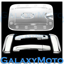 Chrome 4 Door Handle W/O Passenger Keyhole+GAS Cover for 08-12 Nissan PATHFINDER