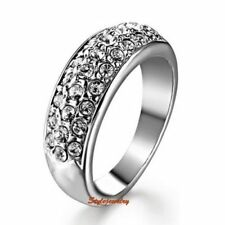 Cubic Zirconia White Gold Plated Promise Fashion Rings