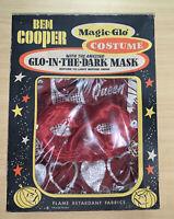 Vintage Halloween Costume Queen of Hearts Ben Cooper 1960's Gitd