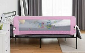 BABY JOY Safety Bed Guard Rail 69x23 Swing Down Twin Double Full Queen King Pink