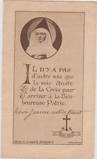 IMAGE PIEUSE HOLY CARD SANTINI-SOEUR JEANNE ANTIDE THOURET/SEOUR DE LA CHARITE