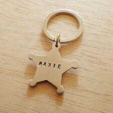 Personalized Dog tag Sheriff Star, Collar Dog Tag id, Pet id Tag, Dog Tag Name