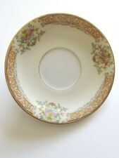 Rose China Occupied Japan Pink Rose Gold Trim Saucer Flowers Scroll Border RO16