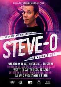 STEVE-O 2014 Australian Tour Poster A2 JACKASS WILD BOYZ Don't Try This At Home
