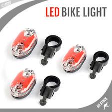 3x Bike LED Light Tail Back Rear Safety Flashing Bicycle Flashlight Lamp Cycling