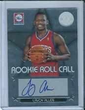 2012-13 Totally Certified Rookie Roll Call Lavoy Allen Auto