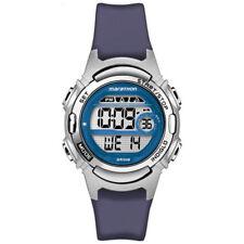 Ladies Timex Marathon Indiglo Digital Alarm Blue Rubber Sports Watch TW5M11200