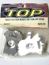 INTEGY # T3777 Silver Aluminum Center Block Set : HPI Racing Nitro RTR 3 1:10